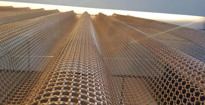 metal ring mesh curtain in interior decoration